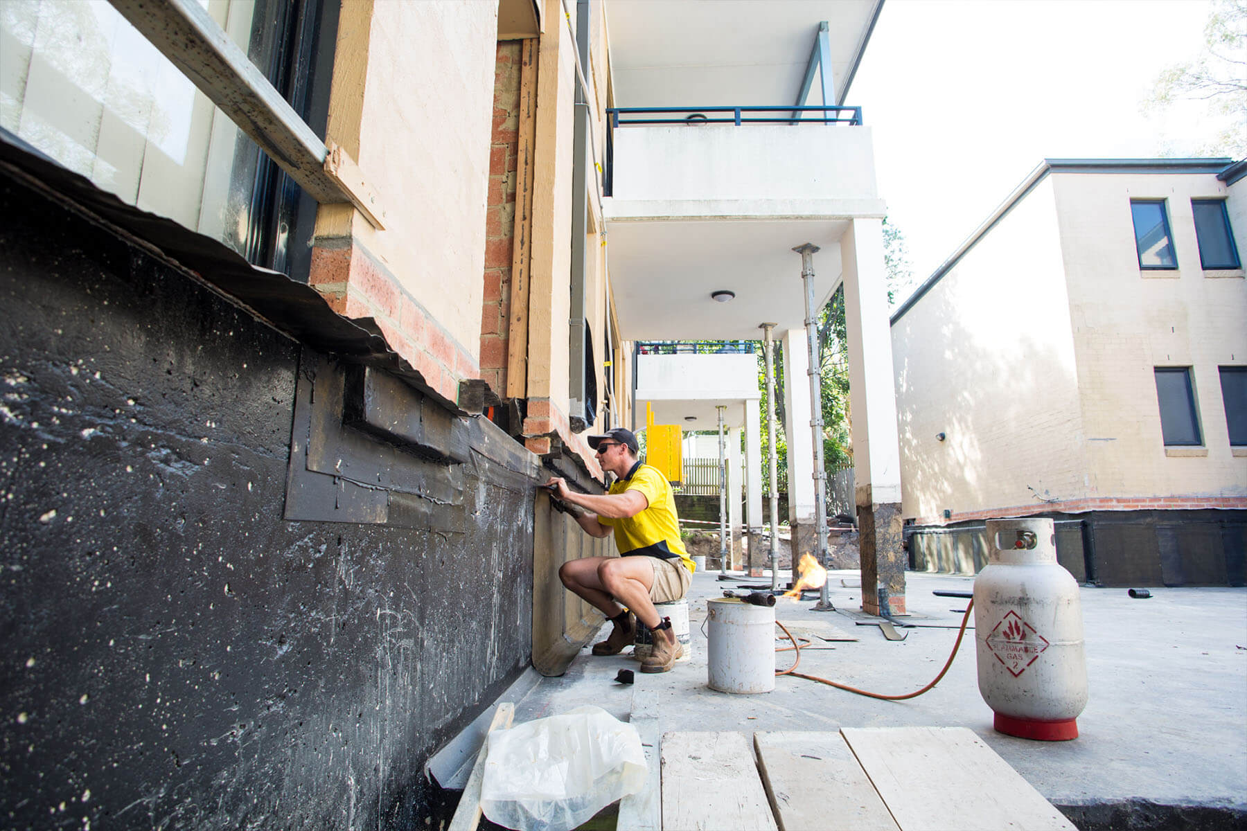 Application of Waterproofing to Terrace - Building Structural Issues - Remedial Building Services