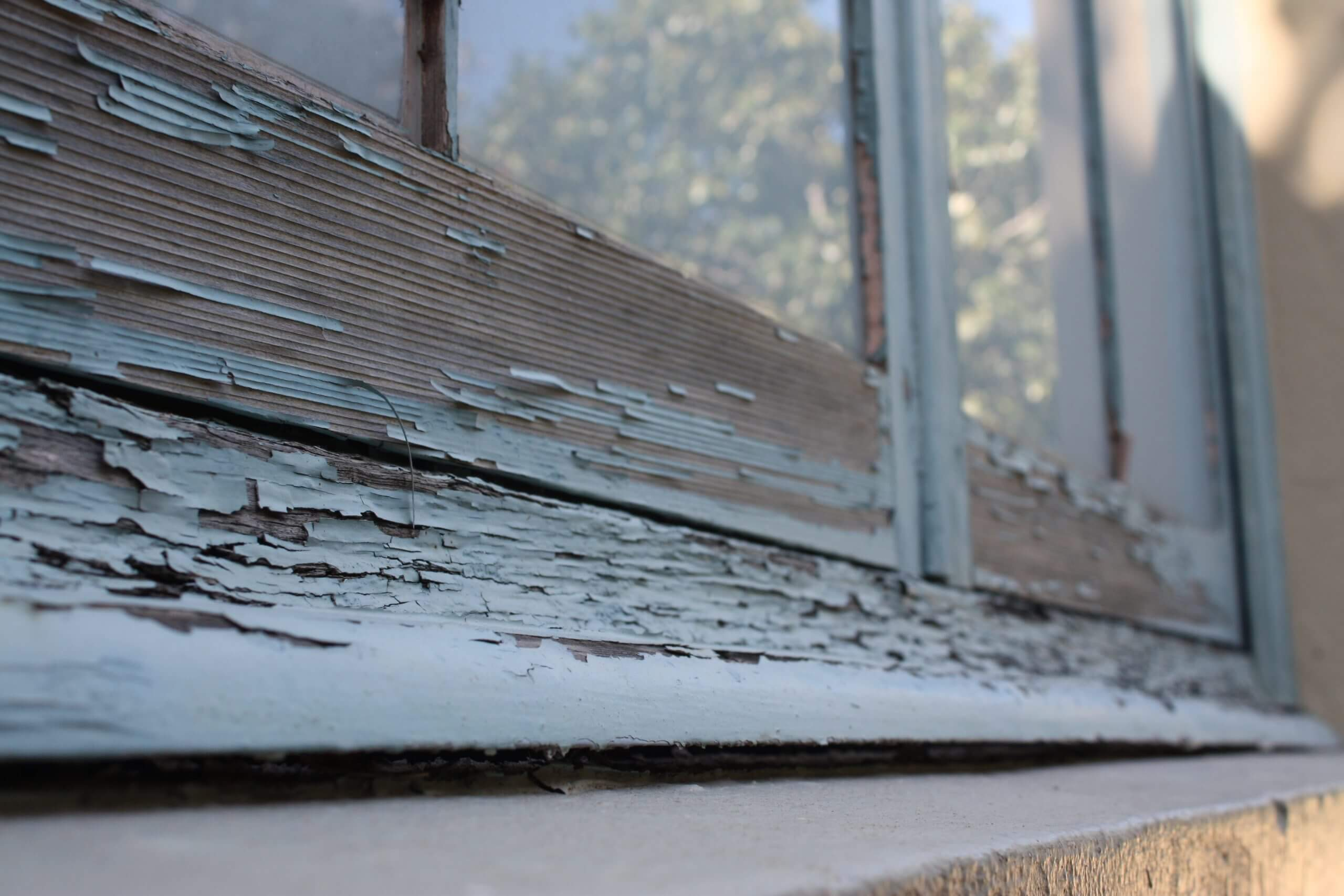 Peeling Paint On The Window - Building Repair And Maintenance - Remedial Building Services