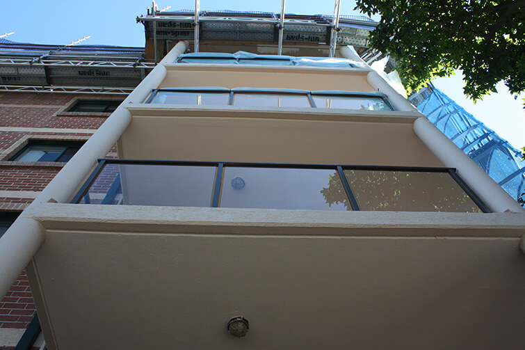 Balustrade Replacement In Progress - Façade Repair - Remedial Building Services