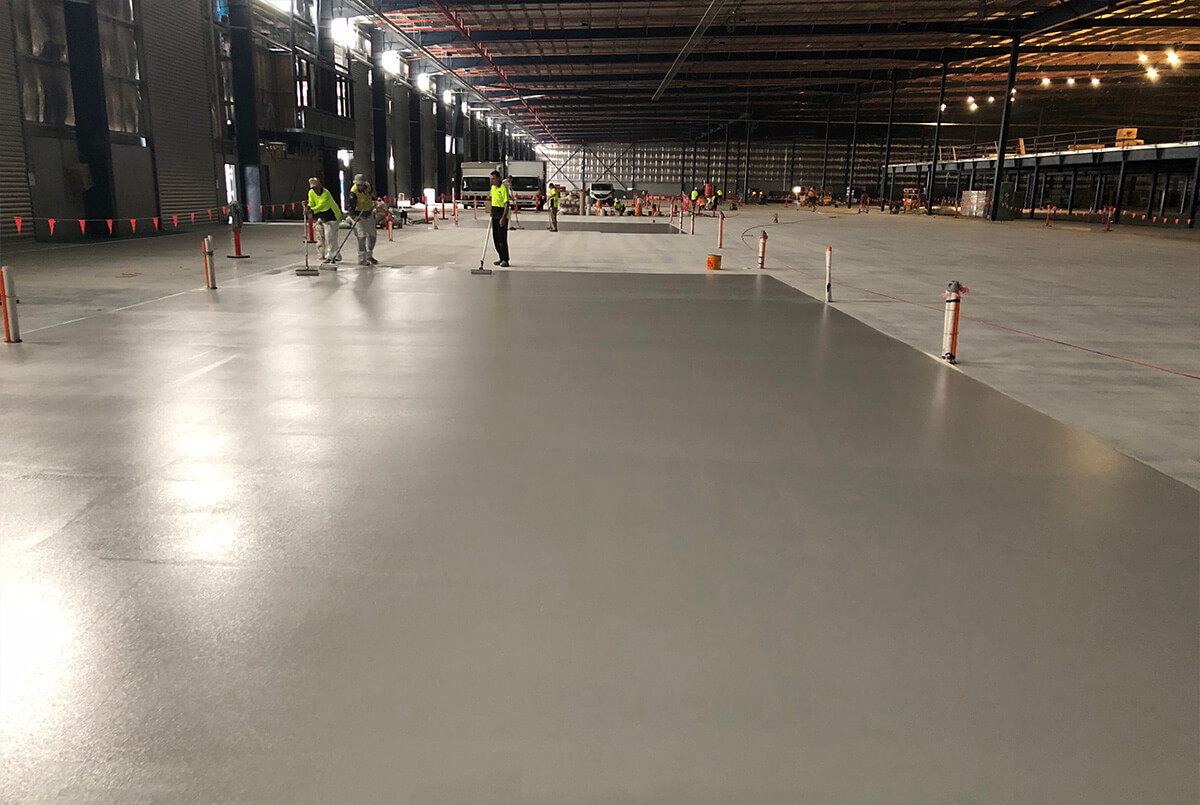 Aplication Of Epoxy Flooring At Toyota Oakdale - Flooring Solution - Remedial Building Services