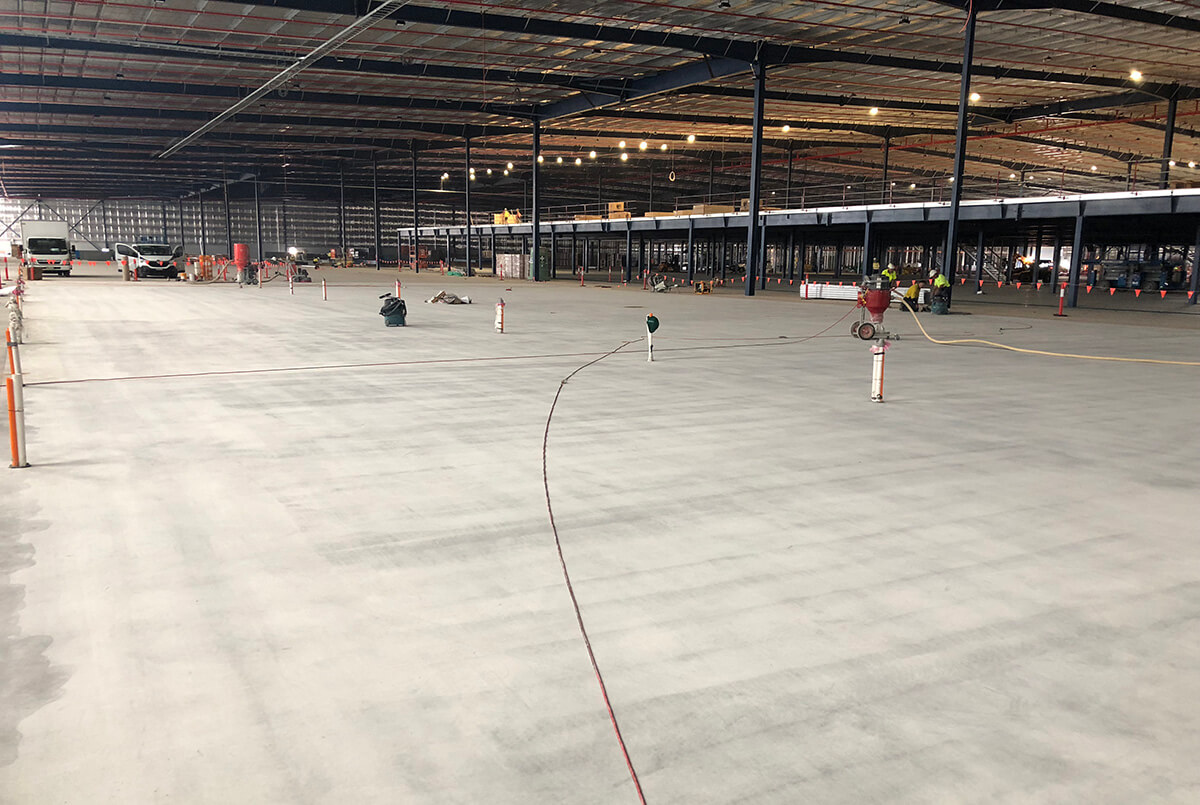 Preparation Of The Battery Flooring Area At Toyota - Flooring Solutions - Remedial Building Services