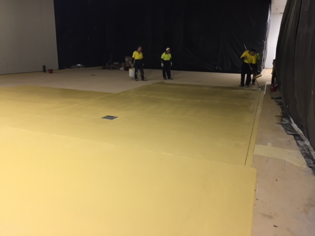 Painting Potato Floor Area At Beak And Johnston - Flooring Solutions - Remedial Building Services