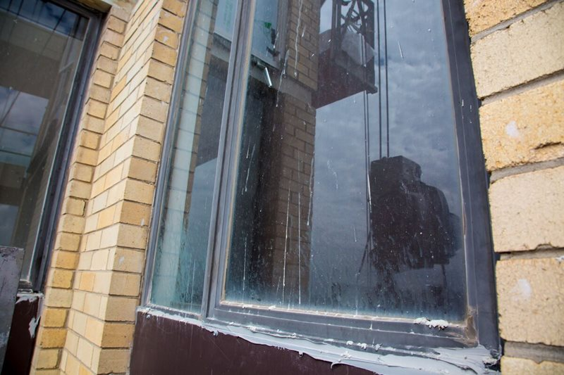 Old Windows In Need Of Replacement - Façade Repair - Remedial Building Services