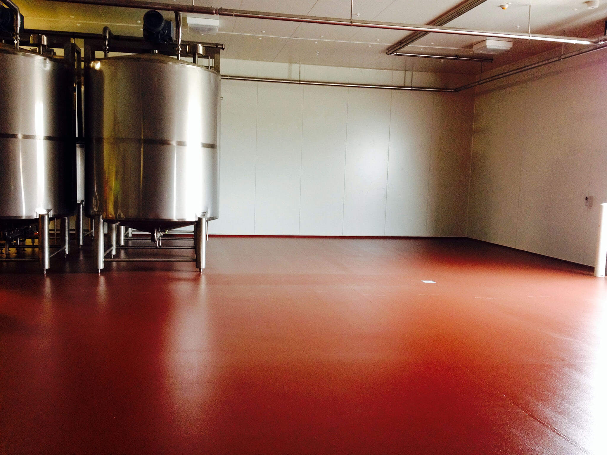 Commercial Flooring option at a chocolate making facility