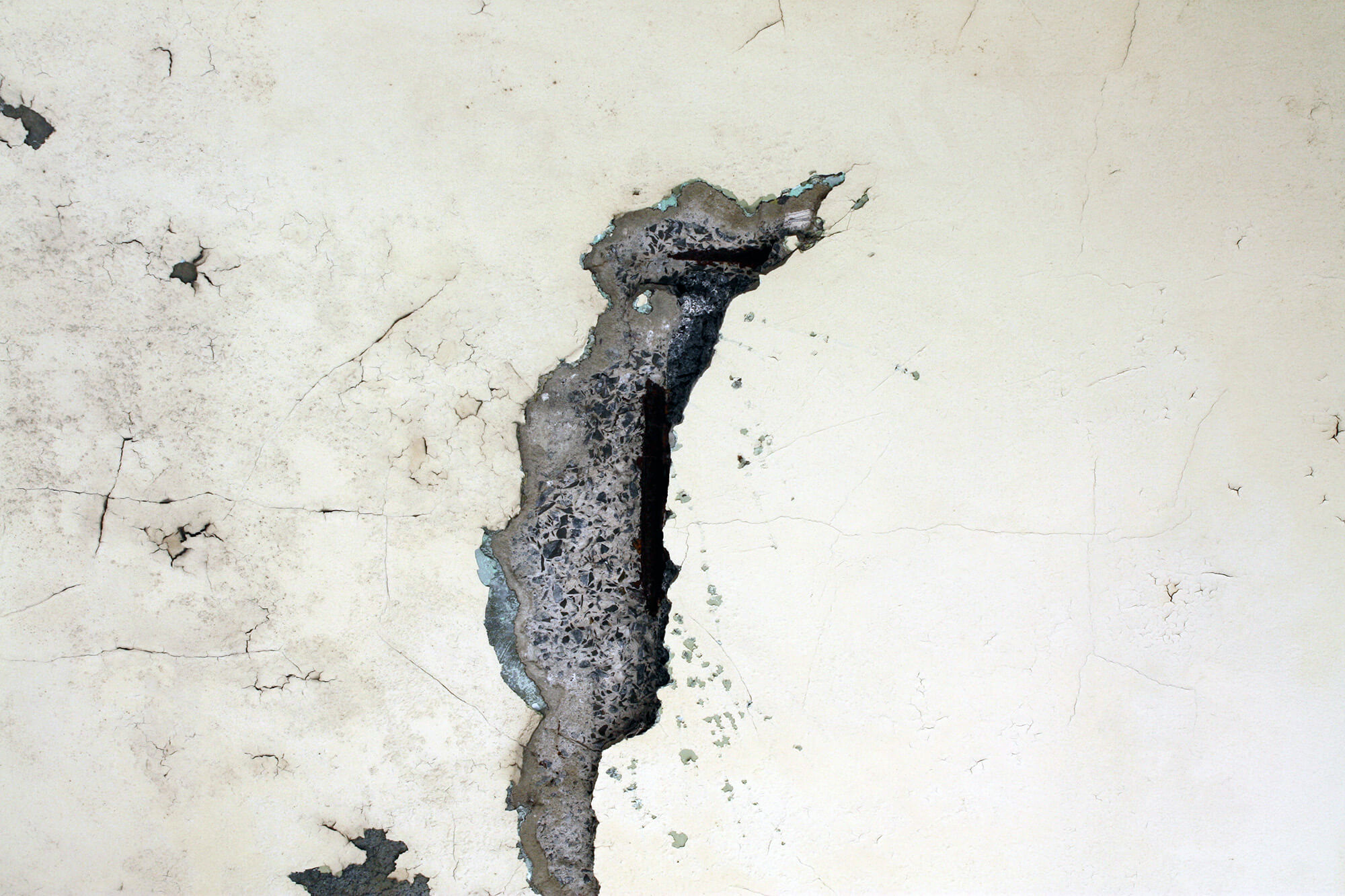 Damaged Wall 2 - Concrete Cancer - Remedial Building Services