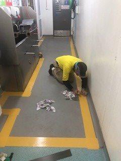 Dycem Flooring Installation at Kellogg's - Flooring Solutions - Remedial Building Services