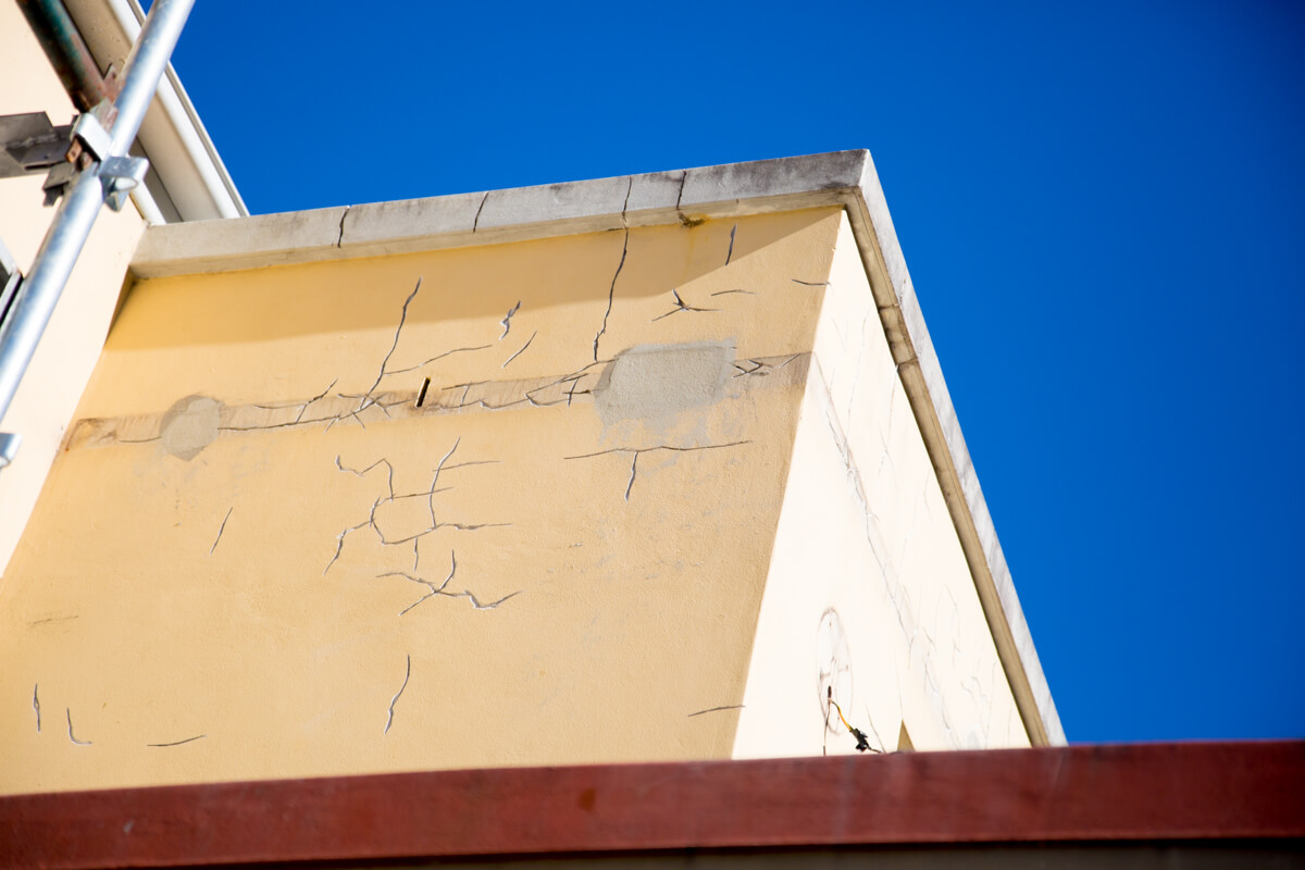 Example of Cracking to a Façade 2 - Concrete Repair - Remedial Building Services
