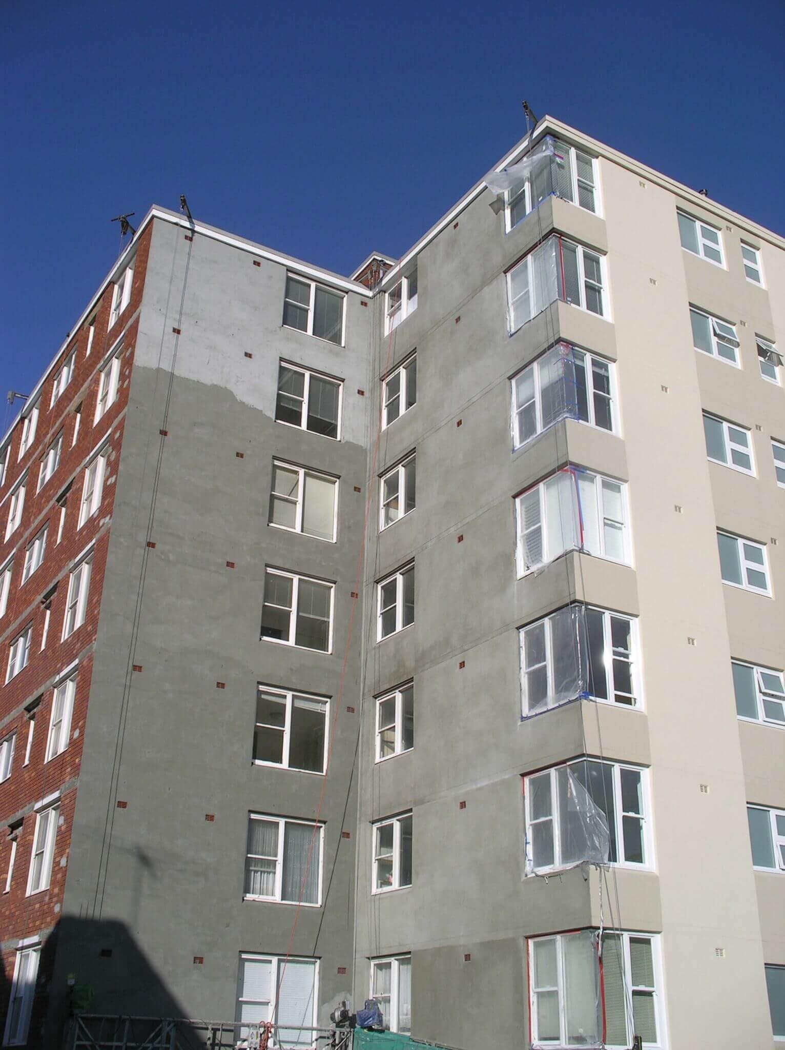 Façade Upgrades Works In Progress - Building Maintenance - Remedial Building Services