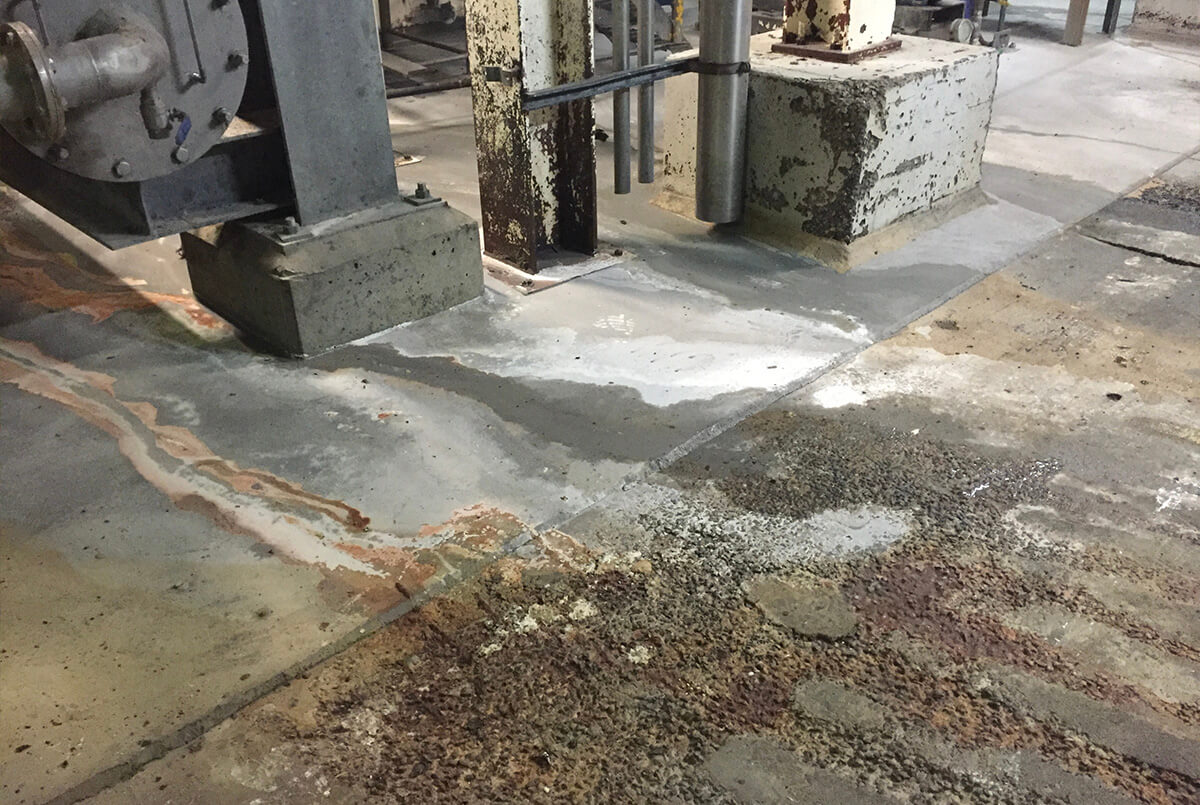 Gluten Tank Flooring Erosion - Flooring Solutions - Remedial Building Services