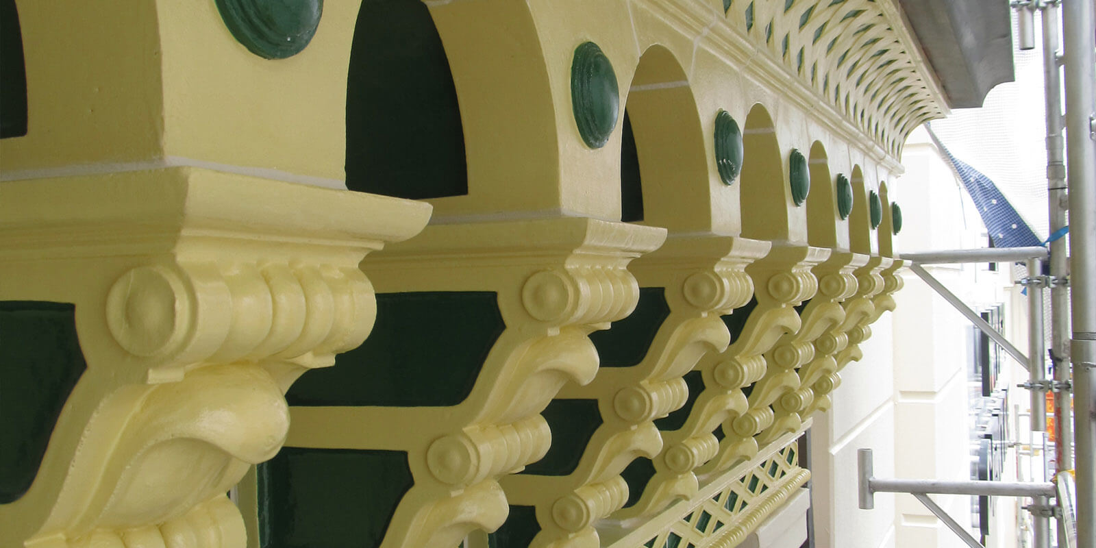 Arch Restoration At Myer Centre - Structural Building Repairs - Remedial Building Services