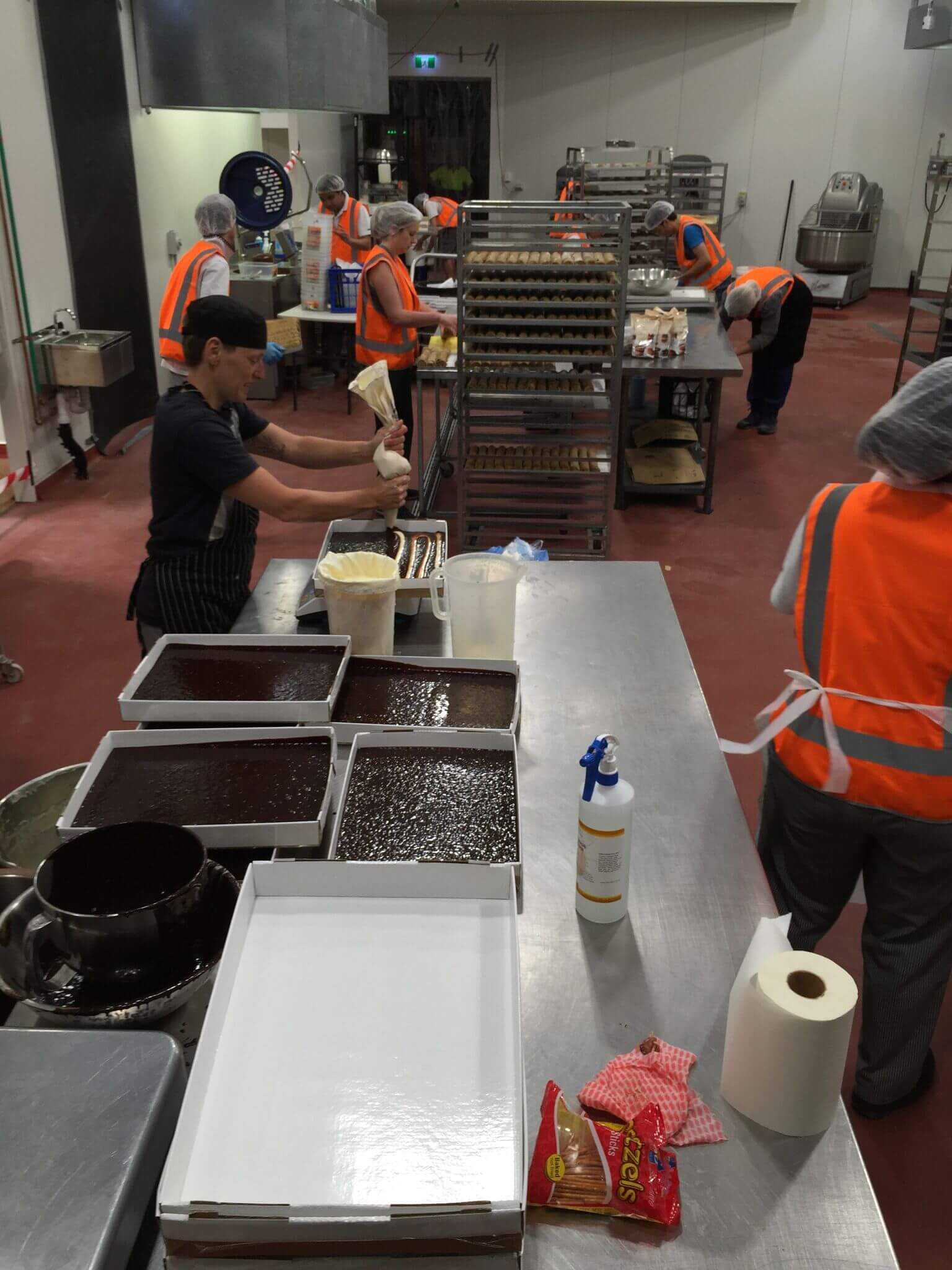Food Production Facility For Max Brenner - Flooring Solutions - Remedial Building Services