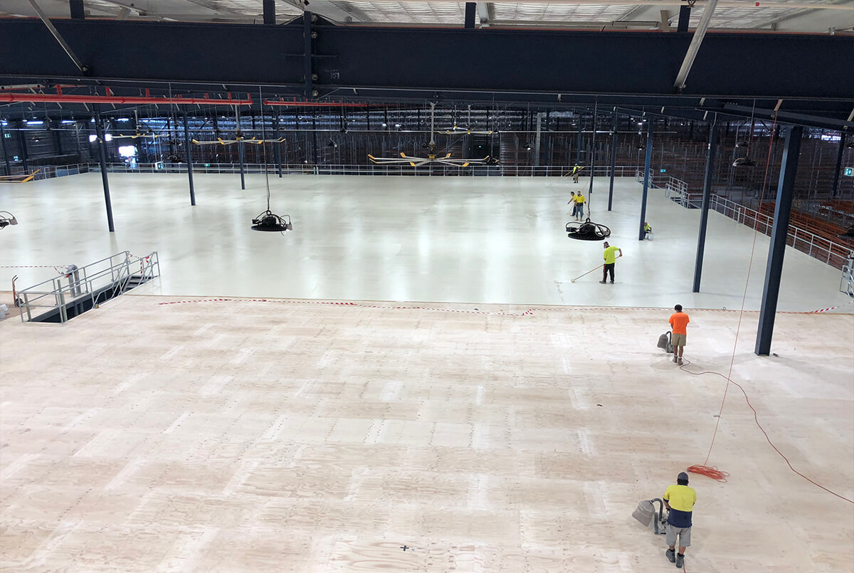 Flooring Coating Application At Toyota Oakdale - Flooring Solutions - Remedial Building Services