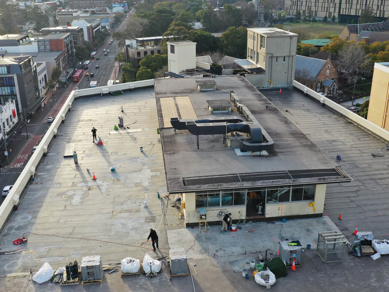 Repair On The Roof At Missenden Road - Waterproofing Services - Remedial Building Services