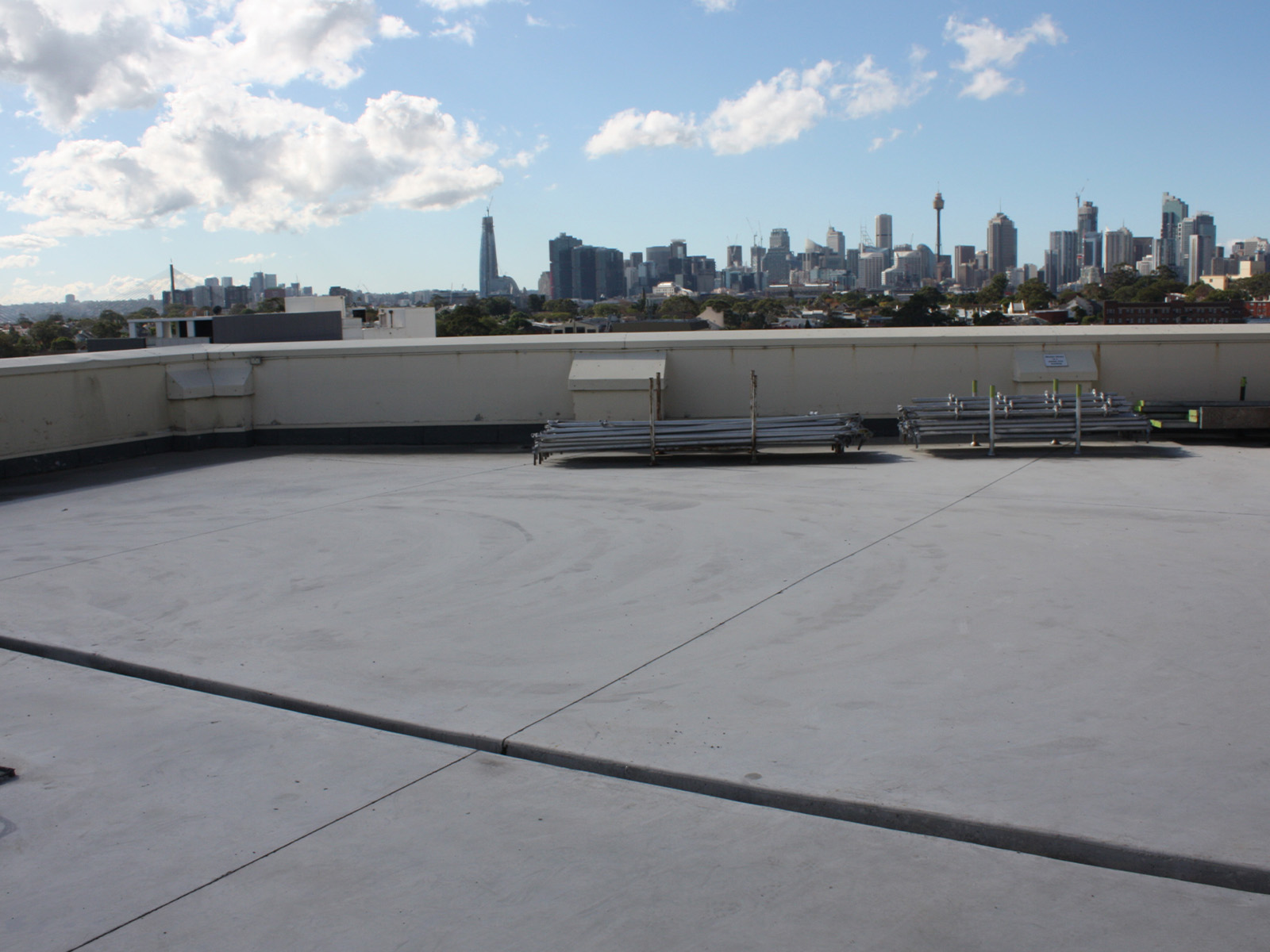 New Slab On The Top Roof At 1 Missende Road - Concrete Repair - Remedial Building Services
