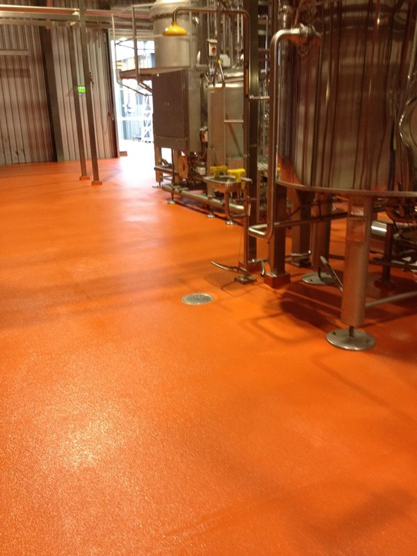 Red Flooring Surface - Epoxy Flooring - Remedial Building Services