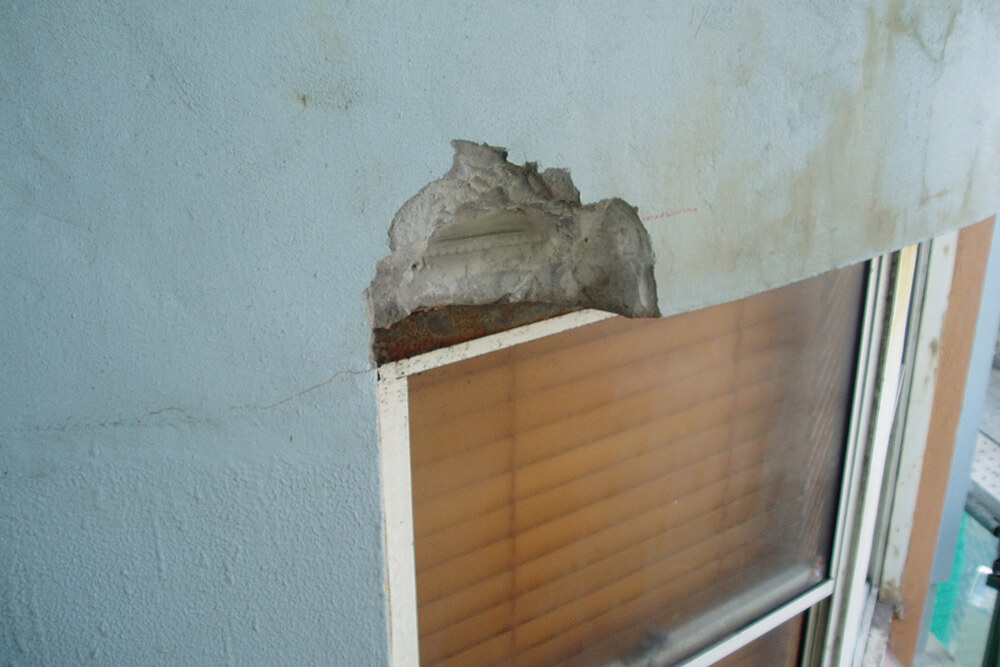 Rusted Lintel - Concrete Repair - Remedial Building Services