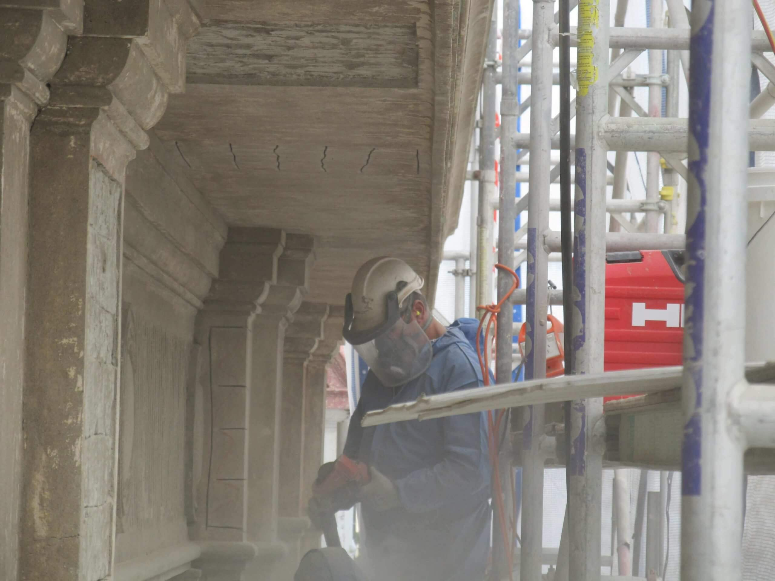 Repair works At Myer Centre Brisbane - Structural Defects In Buildings - Remedial Building Services