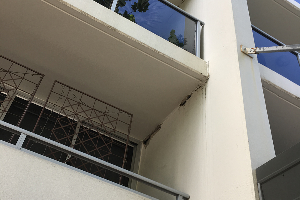 Cracking On The Underside Of The Balcony - Structural Repairs - Remedial Building Services