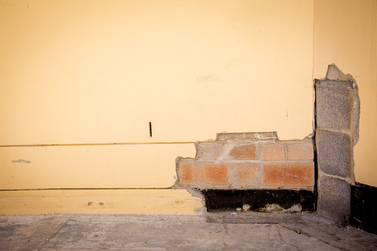 Damage Brick Wall - Structural Building Solutions - Remedial Building Services