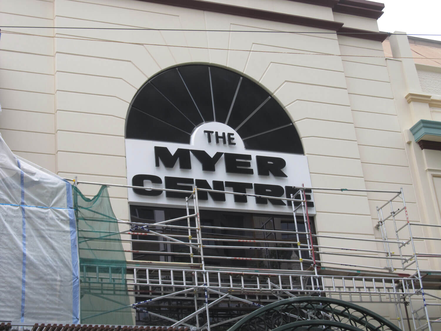 Scaffolding For Repair Works At Myer Centre - Building Maintenance - Remedial Building Services
